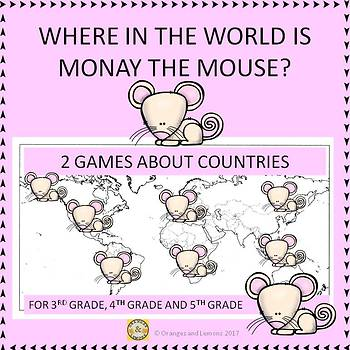 Where in the World is Monay the Mouse? - 2 Games About Countries