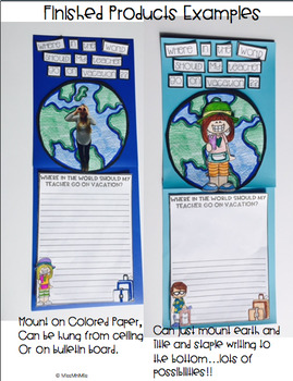 My Teacher Needs a Vacation! An Opinion Writing Craftivity