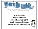 Where in the world is.... {32 Task Cards}