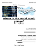 Where in the world would you go? Plan a trip project
