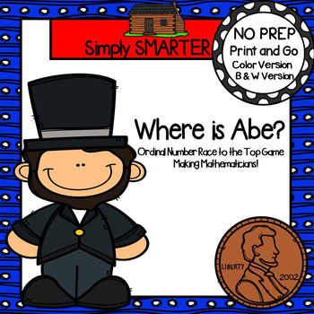 Where is Abe?:  NO PREP Ordinal Number Race to the Top Game