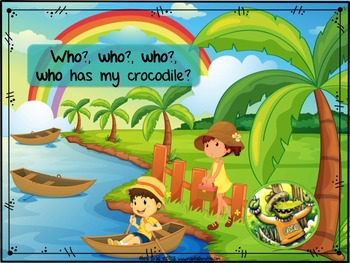 """Where is COCO my Crocodile? – Songbook Mp3 Digital Download, """"WH"""" Questions"""