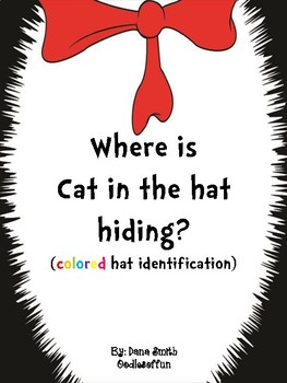 Where is Cat in the hat hiding? (colored hat identification)