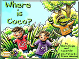 Where is Coco? – a bilingual book, prepositions, swamp