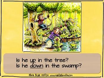 Where is Coco? – a bilingual book, prepositions, swamp