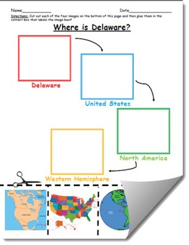 Where is Delaware Geographic Hierarchy Map