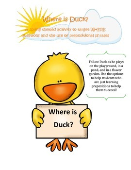 Where is Duck? Practice with Prepositions