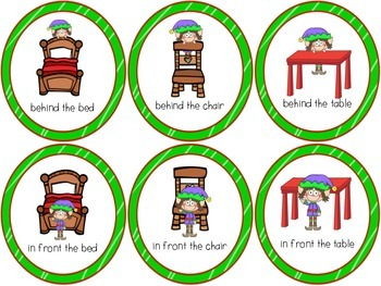 Where is Elf? - BILINGUAL Spatial Concepts Bingo Game