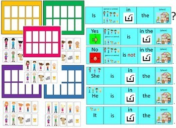 Where is Everybody A Guessing Game for Speech Language Therapy and Special Ed