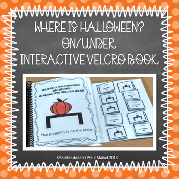 Halloween Pre-K Adapted Book Prepositions: over/under
