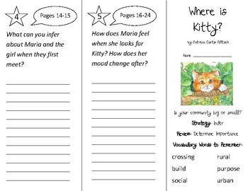 Where is Kitty? Trifold - 2nd Grade Literacy by Design Theme 5
