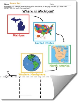Where is Michigan Geographic Hierarchy Map