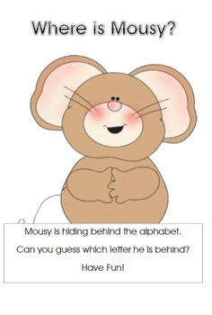 An Alphabet Game......Where is Mousy?