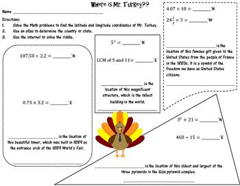 Where is Mr. Turkey?