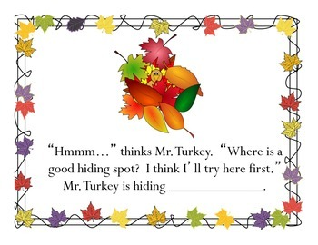 Where is Mr. Turkey: A Thanksgiving Preposition Story