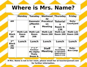 Where is Mrs. Name Sign