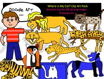 Where is My Cat Clipart Pack