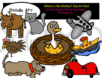 Where is My Mother? Clip Art Pack