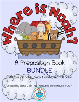 Where is Noah? Preposition Booklets BUNDLE