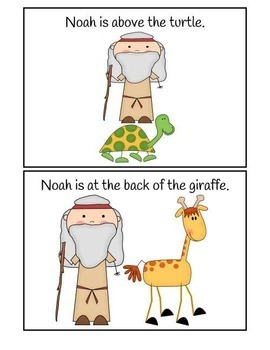 Where is Noah? Preposition Booklet in Low Ink Color