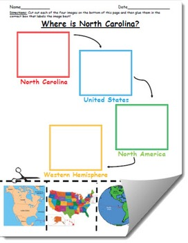 Where is North Carolina Geographic Hierarchy Map