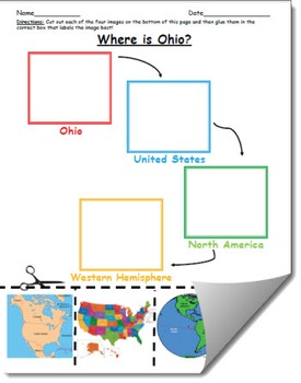 Where is Ohio Geographic Hierarchy Map