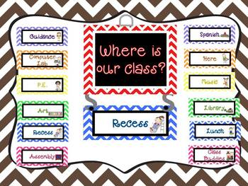 """Where is Our Class?"" Display"