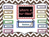 """""""Where is Our Class?"""" Display"""