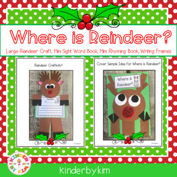 Where is Reindeer? Craft and Writing Activity Pack