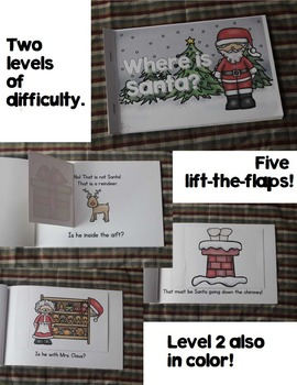 Christmas Emergent Reader: Where is Santa? {with lift the flaps}