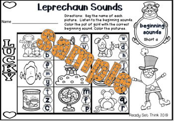 K Sean the Leprechaun (Ebook with Math and Literacy)
