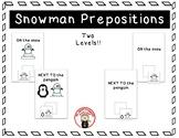 Where is Snowman? - Prepositions
