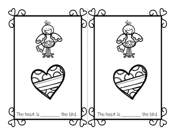 Where is The Heart - A Valentine Preposition Workbook