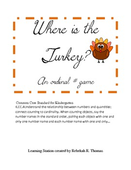 Where is The Turkey Ordinal Number Game