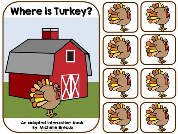 Where is Turkey- An Adapted Thanksgiving Book {Autism, Ear