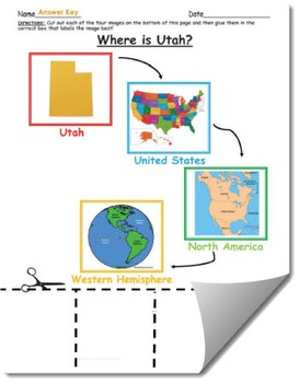 Where is Utah Geographic Hierarchy Map