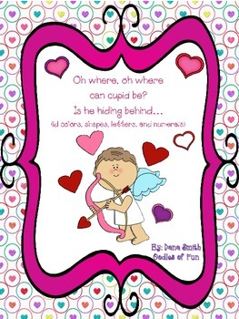 Where is cupid? (identifying colors, letters, numbers and shapes)