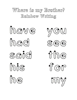 Where is my Brother?: Guided Reading Level C Emergent Reader Activity Pack
