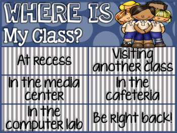 Where is my Class? Signs!