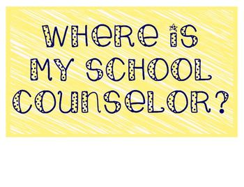 Where is my School Counselor/Psych/SW in navy, coral, yellow, teal, and gray