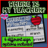 Where is my Teacher? Signs!