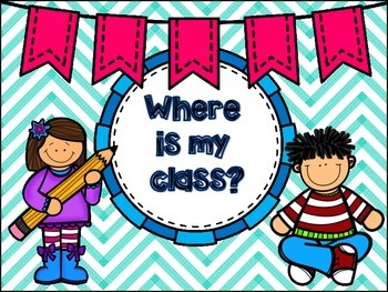 Where is my class? & Where are my students? classroom poster clip-chart set