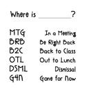 Where is my teacher?