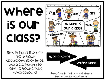 Where is our class? Door sign