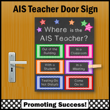 sc 1 st  Teachers Pay Teachers & Where is the AIS Teacher Door Sign Academic Intervention Services
