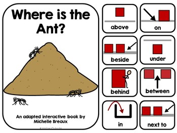 Where is the Ant? Adapted Book Positional Words / Directional Word--Autism, SPED