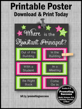 Where is the Assistant Principal Poster Appreciation End of the Year Gift