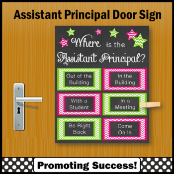Where is the Assistant Principal Door Sign, Appreciation Gift NOT EDITABLE