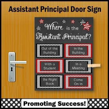 Where is the Assistant Principal Sign, Red and Black