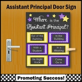 Where is the Assistant Principal Sign, Purple & Yellow